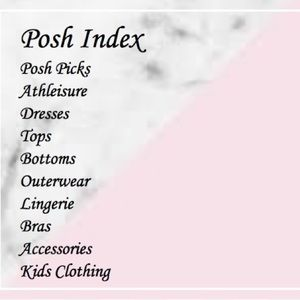 💕Looking for something? Check out my Posh Index!